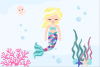 Pastel Mermaid Set - Light Skin Clipart example image 2