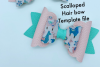DIY hair bow template - Hair bow svg files - Scalloped bow example image 3