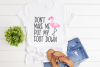 Don't Make Me Put My Foot Down - Flamingo SVG example image 2