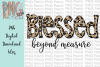 Blessed Beyond Measure, Leopard Print PNG File, Sublimation example image 1