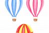 Watercolor Hot-Air Balloons Patterns example image 4
