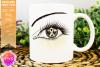 Cream Awareness Ribbon Eye - Printable Design example image 1
