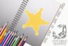 Sheriff Badge 2 SVG, Silhouette Studio, Cricut, Eps, Dxf, AI example image 1