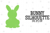 Bunny Silhouette SVG File example image 1