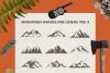 Mountain Shapes Bundle / Mountain Silhouette / Mountain SVG example image 5