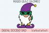 Mardi Gras Gnomes SVG, Silhouette and Cricut Cut Files example image 3