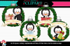 Penguin Christmas Ornaments example image 1