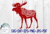 Woodland Animal Mandala Bundle, Fox, Deer, Bear, Moose SVG example image 5