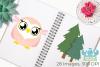 Owl Girls Clipart, Instant Download Vector Art example image 3