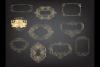 Deco Gold foil frames clip arts, Elegant calligraphic frames example image 4