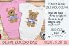 Teddy Bear SVG Split Monogram | Silhouette & Cricut Cut File example image 3