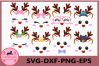 Deer Face svg, Buffalo Plaid Svg, Deer Antlers, Little Deer example image 1