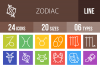24 Zodiac Line Multicolor B/G Icons example image 1