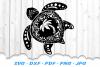 Mandala Sea Turtle Palm Beach SVG DXF Cut Files example image 2