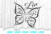 Live Free Inspirational Butterfly SVG DXF Cut Files example image 2