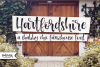 Hartfordshire, a shabby chic farmhouse font example image 5