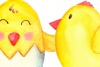 Watercolor Bright Chicks Clip Art  example image 4