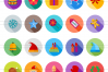 40 Christmas Flat Long Shadow Icons example image 2