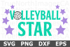 Volleyball Star - A Sports SVG Cut File example image 1