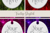 Oval Christmas Ornament Mockup, Bauble Holiday Mock- Up, JPG example image 3