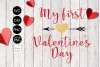 my 1st valentines Day Valentines SVG File example image 2