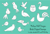 Birds Digital Stamps Clipart example image 1
