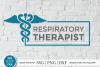 Respiratory therapist svg, RT svg, caduceus svg, sublimation example image 1