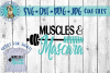 Muscles & Mascara - SVG cut file example image 1