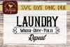 Laundry Wash Dry Fold Repeat svg cut file example image 1