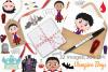 Vampire Boys Clipart, Instant Download Vector Art example image 4