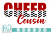 Cheer Cousin - Cheerleader SVG, DXF, AI, EPS, PNG, JPEG example image 1