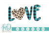 Leopard Heart - Buffalo Plaid Love - Valentines Day SVG example image 2