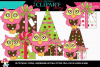 Pink and Brown Christmas Owls example image 1