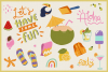 Summer Holiday Vector Clipart & Seamless Patterns example image 2