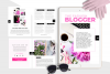 Hot Pink Fashion Canva template Ebook example image 10