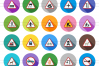 50 Traffic Signs Flat Long Shadow Icons example image 2