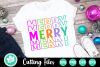 Merry Split Letters - A Christmas SVG Cut File example image 1