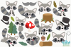Raccoon Boys Clipart, Instant Download Vector Art example image 2