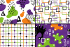 Halloween abstract seamless digital papers / patterns example image 2