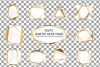 Chaotic geometric golden frames, lineal frames clip art example image 2