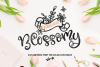 Blossomy - Font Duo Floral Doodles example image 1