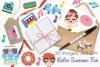 Retro Summer Fun Clipart, Instant Download Vector Art example image 4