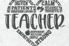 Teacher Subway Art - a Teacher appreciation SVG & DXF file example image 2