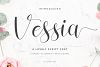 Vessia a lovely script font example image 1
