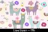 Colourful Llama Clipart Bundle example image 1