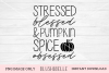 Stressed, Blessed & Pumpkin Spice Obsessed - PNG Image Only example image 1