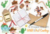 Wild West Cowboys Clipart, Instant Download Vector Art example image 4