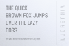 LUCRETHIA - Minimal Sans Serif Font example image 5