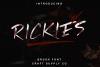 Rickies - Brush Font example image 1