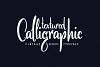 Scratches calligraphic font example image 3